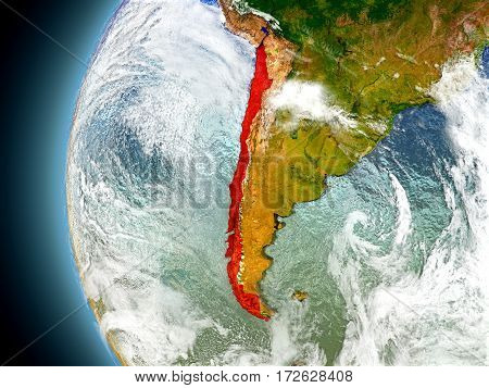 Chile On Planet Earth From Space
