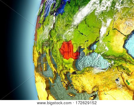 Romania On Planet Earth From Space