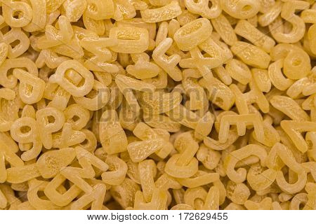 Frame Full Of Alphabet Noodles Or Alphabet Pasta