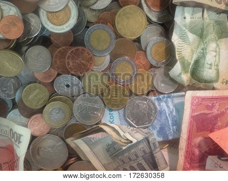 A bunch of money - currencies from several countries