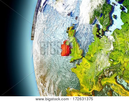 Ireland On Planet Earth From Space