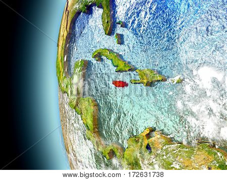 Jamaica On Planet Earth From Space