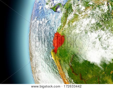 Ecuador On Planet Earth From Space