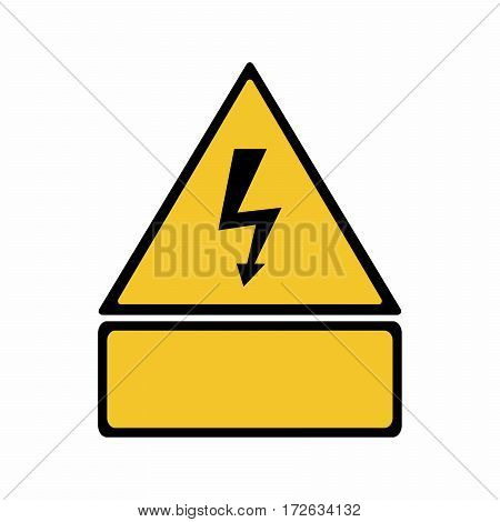 Electricity hazard sign vector design isolated on white background