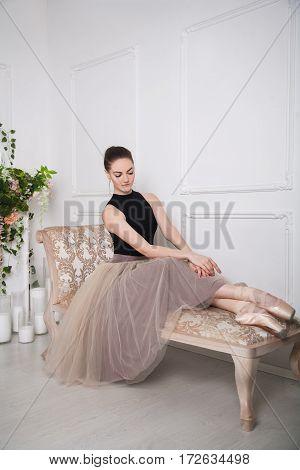 Thoughtful Girl Ballerina