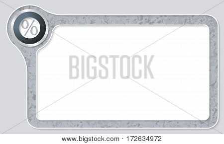 Vector frame for your text with marble pattern and percent symbol