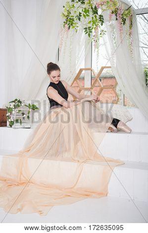 Charming Elegant Girl Ballerina