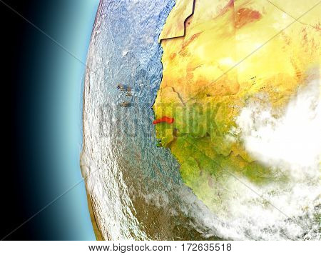 Gambia On Planet Earth From Space