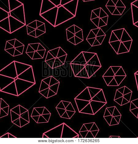 Seamless geometric pattern on wallpaper and fabrics for decoration and packaging