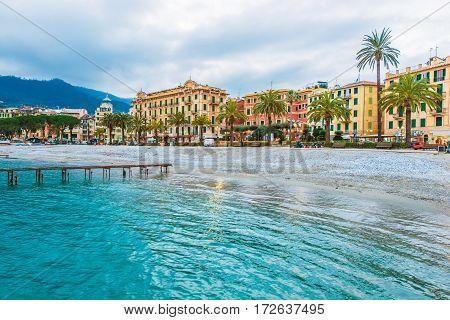 Santa Margherita Ligure. Metropolitan City of Genoa in the Italian Region Liguria.