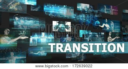 Transition Presentation Background with Technology Abstract Art 3D Illustration Render