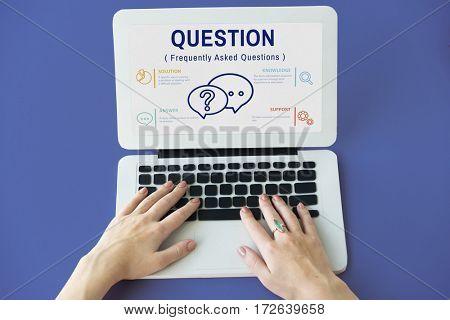 FAQs Customer Service Icon Concept