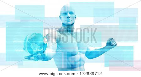 Medical Abstract Background as a Business Theme 3D Illustration Render