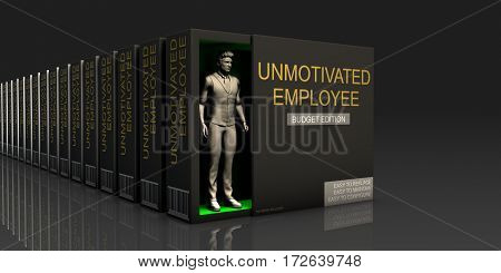 Unmotivated Employee Endless Supply of Labor in Job Market Concept 3D Illustration Render poster