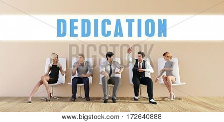 Business Dedication Being Discussed in a Group Meeting 3D Illustration Render