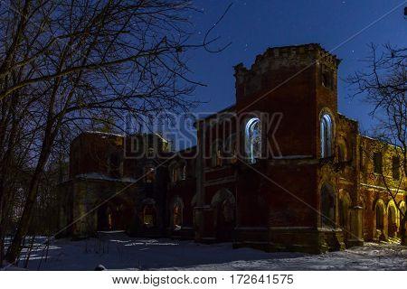 The manor of Baron Wrangel, Leningrad oblast, Russia poster