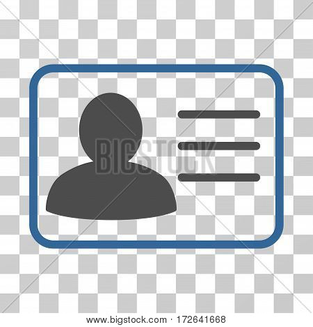 Account Card icon. Vector illustration style is flat iconic bicolor symbol cobalt and gray colors transparent background. Designed for web and software interfaces.