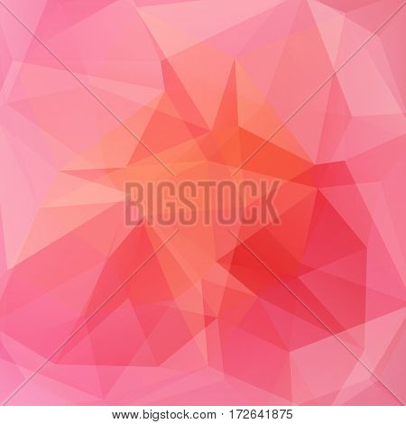 Background Of Geometric Shapes. Pink Mosaic Pattern. Vector Eps 10. Vector Illustration