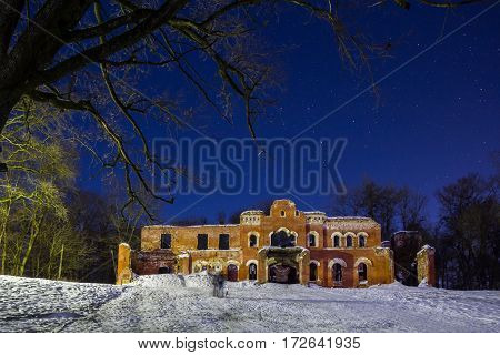 The manor of Baron Wrangel, Leningrad oblast, Russia