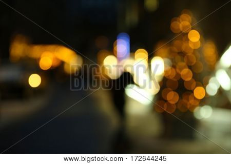 Blurred background of city lights