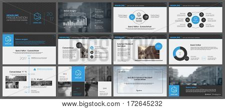 Blue and black elements for infographics on a white background. Presentation templates. Use in presentation, flyer and leaflet, corporate report, marketing, advertising, annual report, banner.