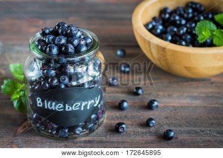 Blueberry Antioxidant Organic Superfood In A Jar