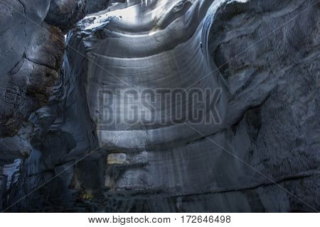Inside Maligne Canyon Jasper National Park Canada poster