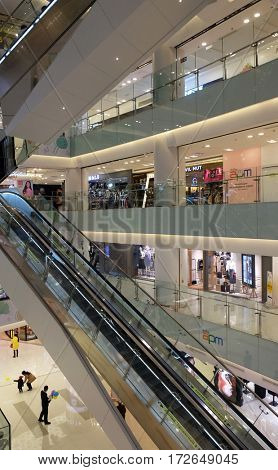 BEIJING - FEBRUARY 23, 2016: Luxury shopping mall. China accounts for about 20 percent, or 180 billion renminbi ($27 billion) of global luxury sales in 2015, according to new McKinsey research.