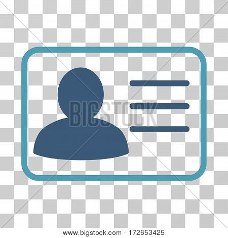 Account Card icon. Vector illustration style is flat iconic bicolor symbol cyan and blue colors transparent background. Designed for web and software interfaces.