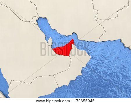 United Arab Emirates On Map
