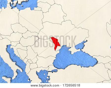 Moldova On Map