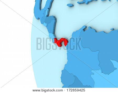 Panama On Blue Globe