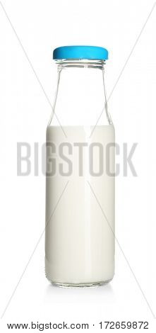 Bottle of milk isolated on white