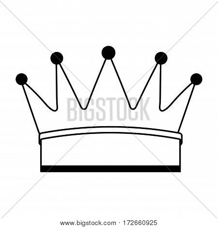 crown king isolated icon vector illustration design