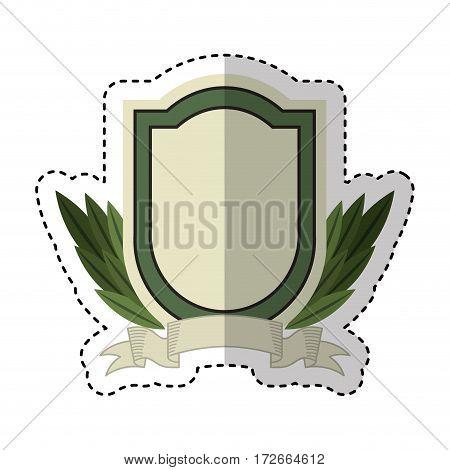wreath leafs crown emblem vector illustration design