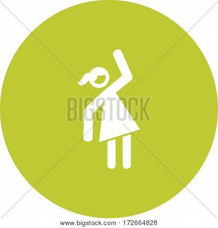 Woman, lady, fitness icon vector image. Can also be used for women. Suitable for mobile apps, web apps and print media.