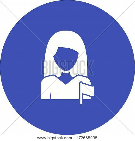 Woman, politics, president icon vector image. Can also be used for women. Suitable for mobile apps, web apps and print media.