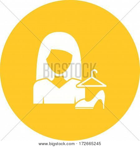 Fashion, woman, style icon vector image. Can also be used for women. Suitable for mobile apps, web apps and print media.