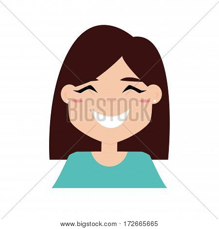 Abstract girl expression face on a white background