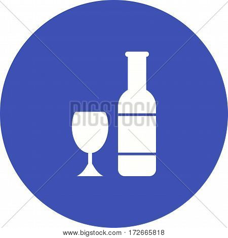 Champagne, celebration, glass icon vector image. Can also be used for european cuisine. Suitable for mobile apps, web apps and print media.