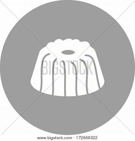 Cake, gugelhupf, food icon vector image. Can also be used for european cuisine. Suitable for mobile apps, web apps and print media.