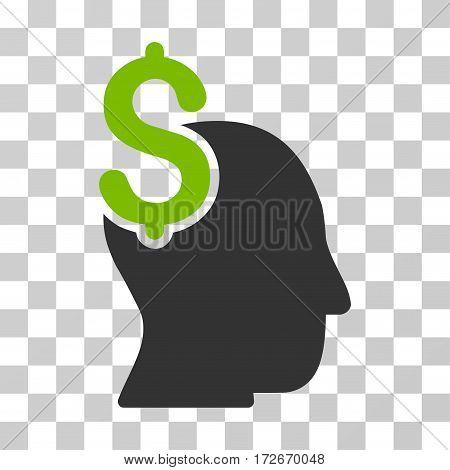 Commercial Intellect icon. Vector illustration style is flat iconic bicolor symbol eco green and gray colors transparent background. Designed for web and software interfaces.