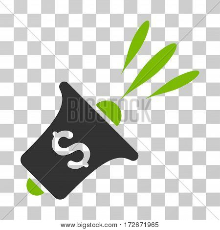 Financial News Rupor icon. Vector illustration style is flat iconic bicolor symbol eco green and gray colors transparent background. Designed for web and software interfaces.
