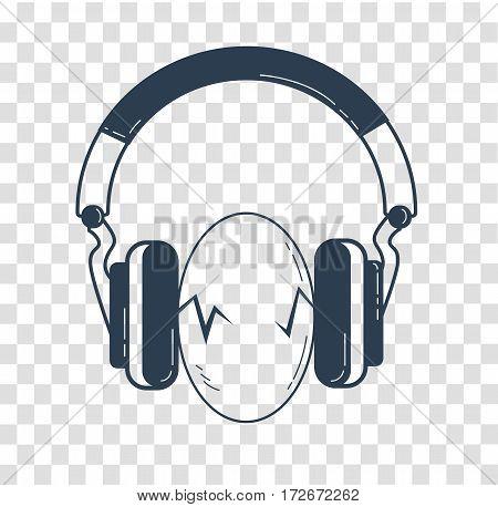 Eggs Between Headphones Black