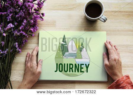 Journey Road Trip Travel Concept