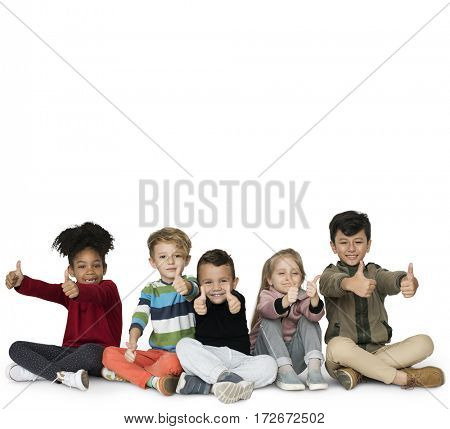 Schooler Frinds Happiness Cute Playful