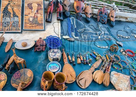 Exotic handmade crafted tribal souvenirs from Africa