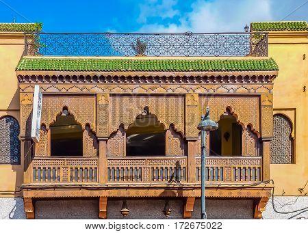 Facade Of A Moroccan Riad