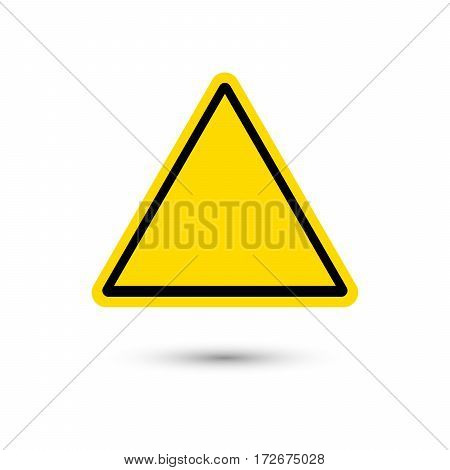 blank warning sign with shadow. Vector illustration