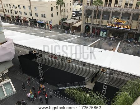 LOS ANGELES - FEB 21: Oscar preparations at the Dolby Theater, 2017 in Hollywood, Los Angeles, California.